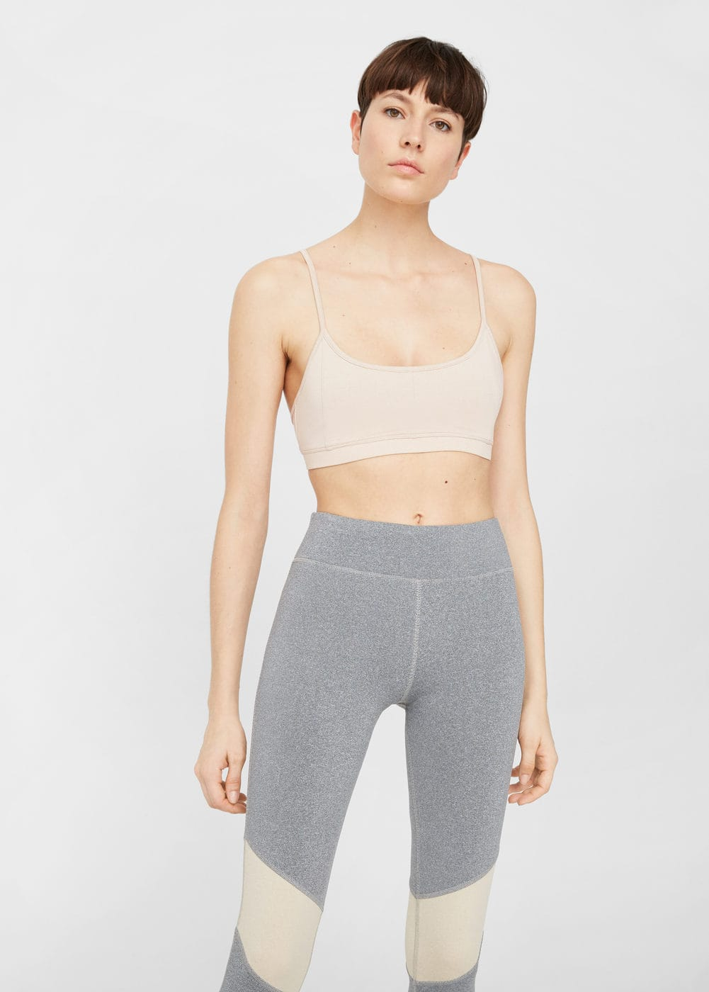 Panel contrast leggings | MANGO