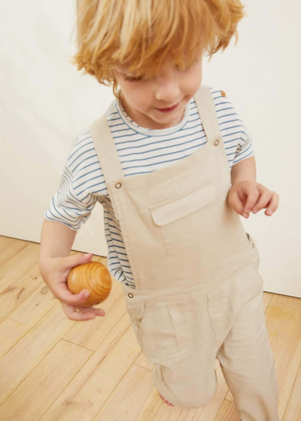 Long linen-blend jumpsuit | MANGO KIDS