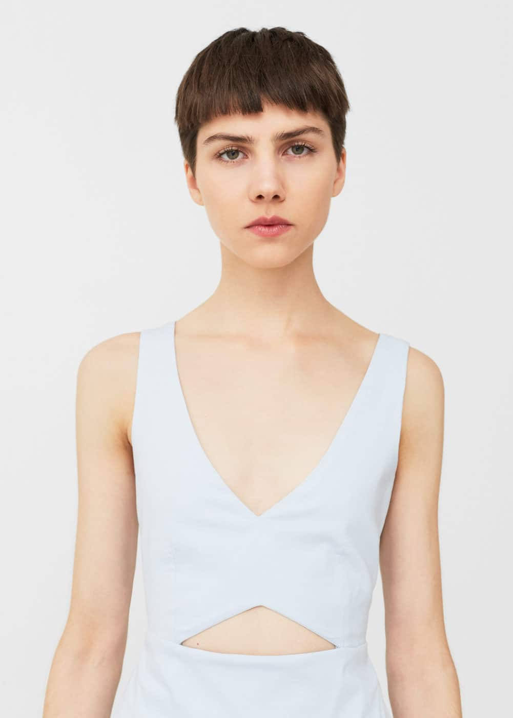 Cut-out detail jumpsuit | MNG