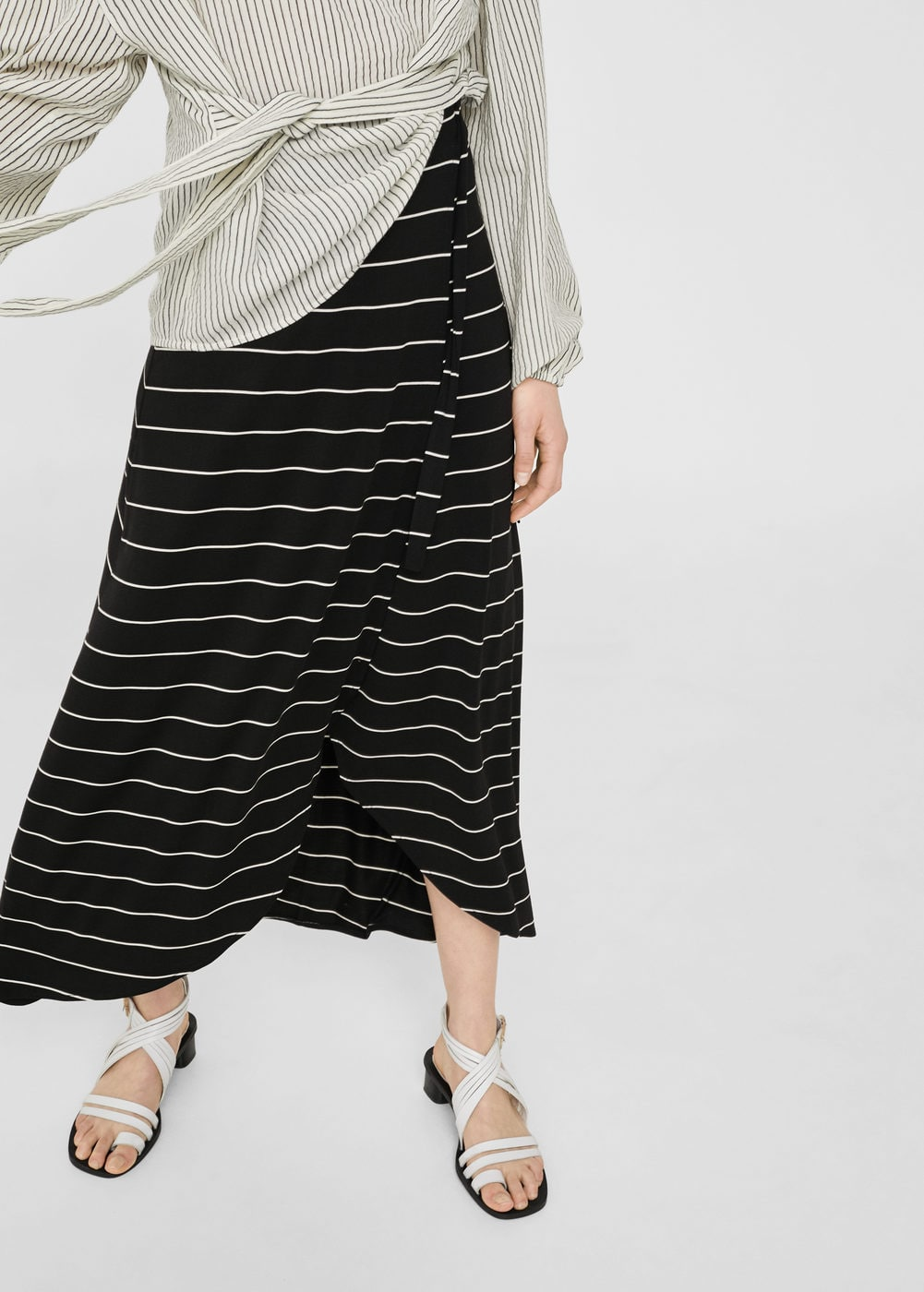 Striped skirt | MANGO