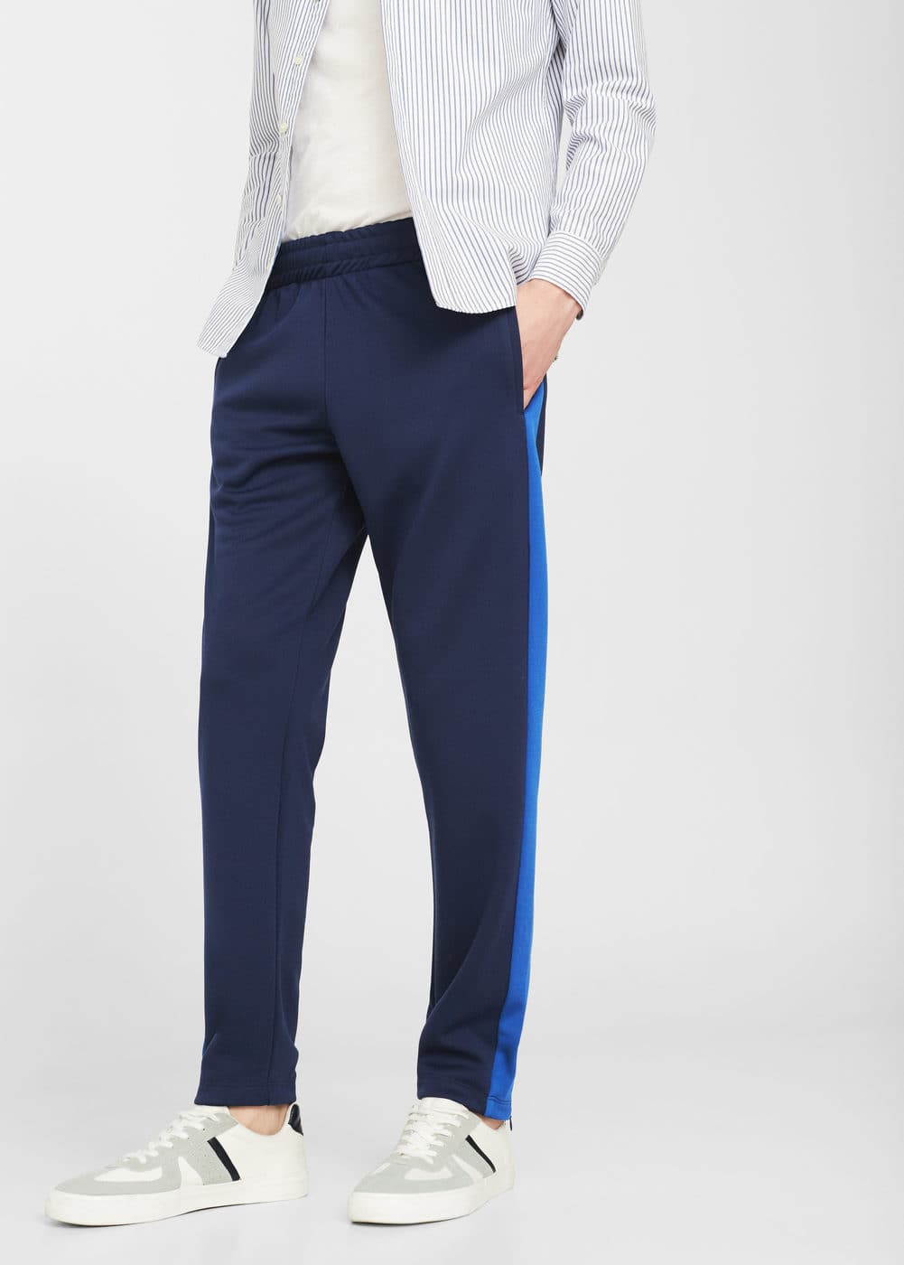 Contrasting trims jogging pants | MANGO MAN