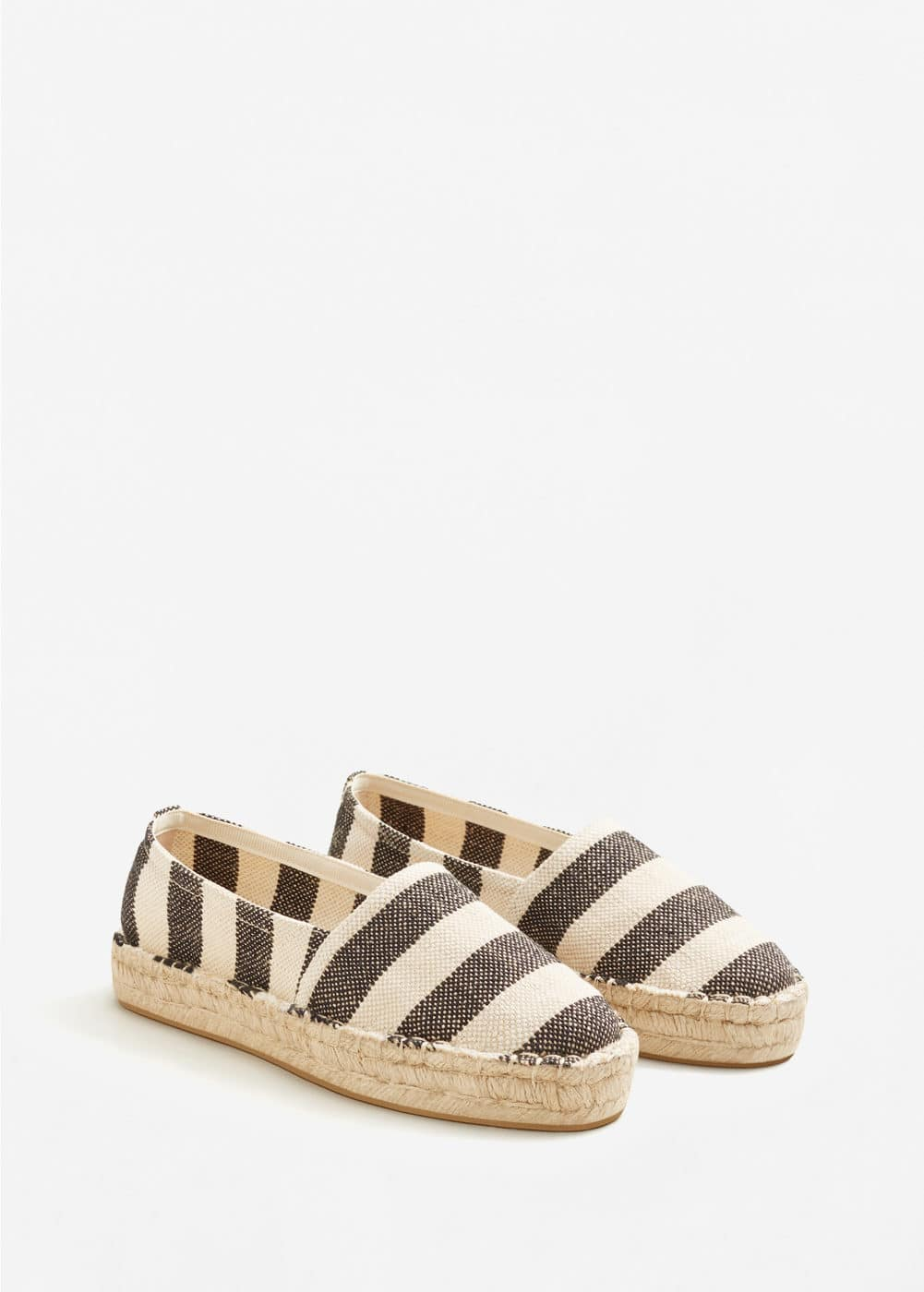 Striped linen espadrilles | MNG