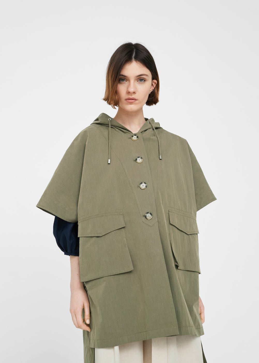 Hooded cotton parka | MNG