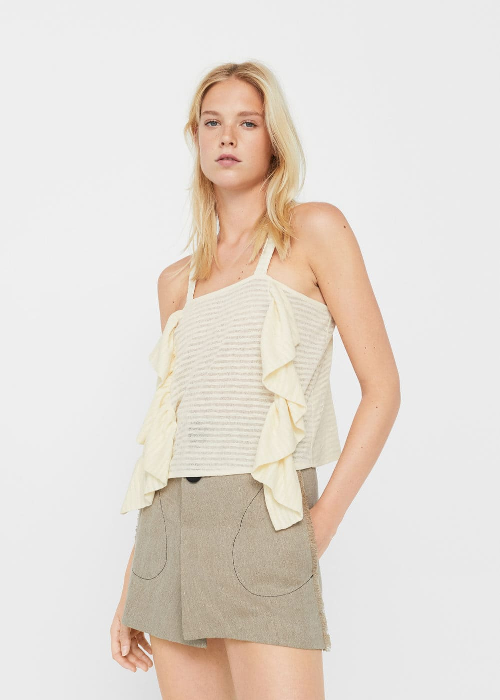Ruffled top | MANGO