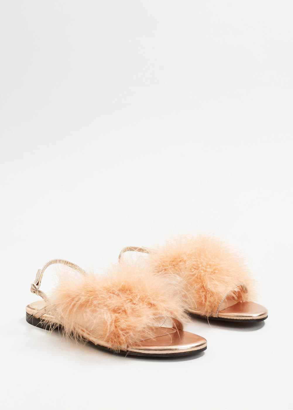 Feather sandals | MANGO