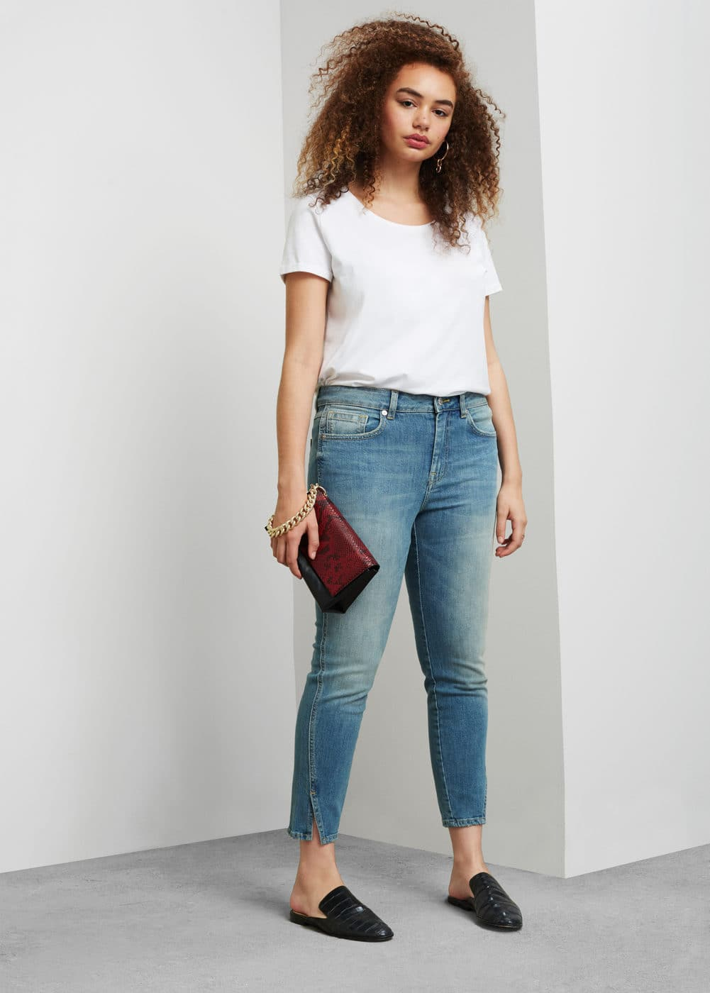 Super slim-fit cruseau jeans | VIOLETA BY MANGO