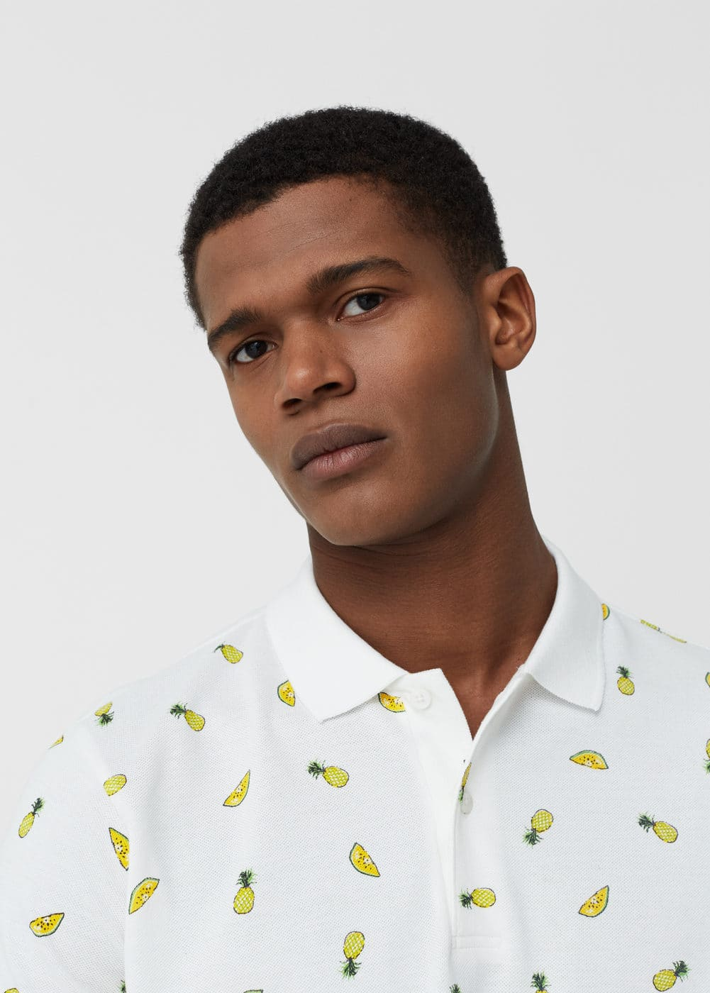 Printed cotton polo shirt | MANGO