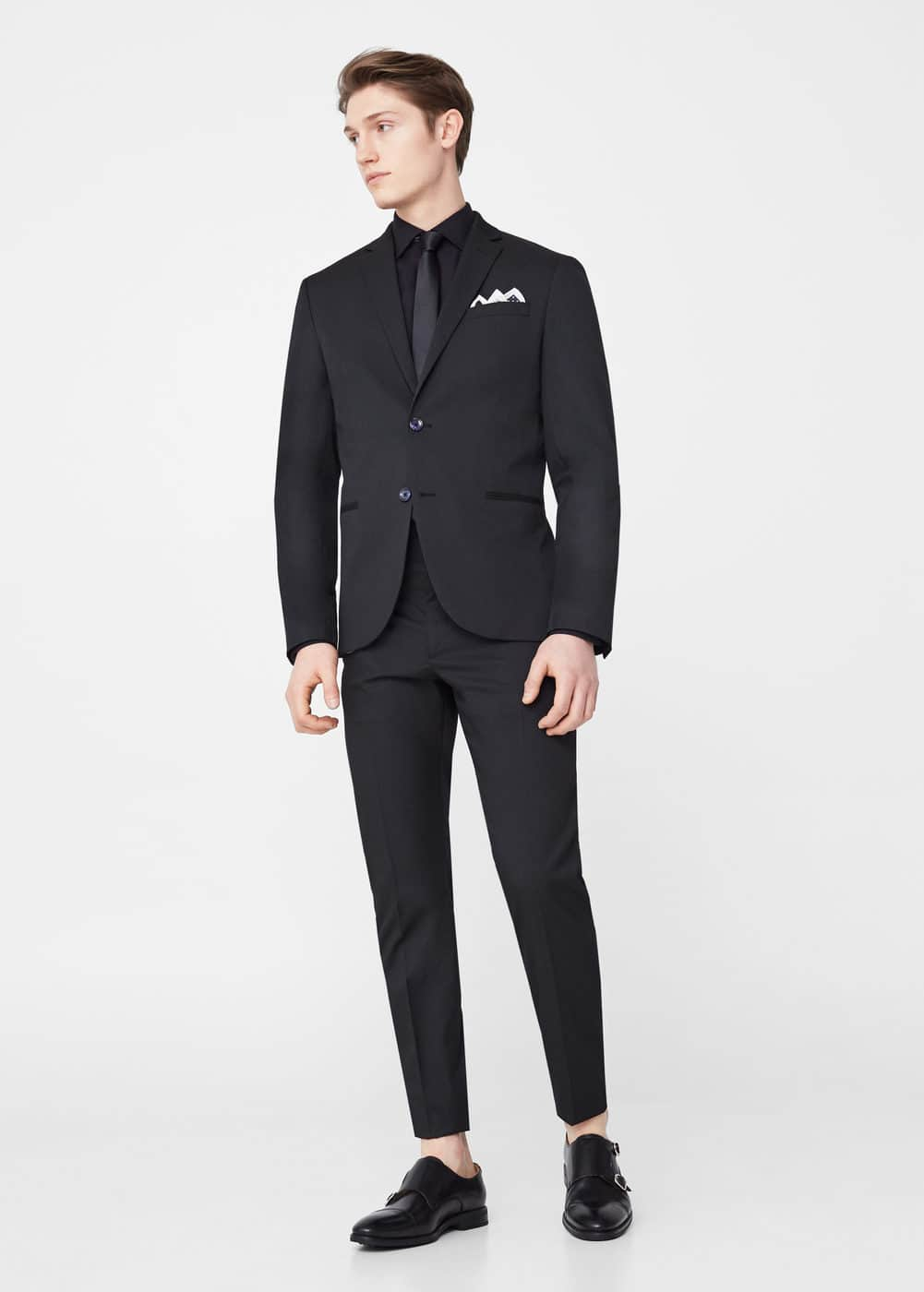 Modern slim-fit suit blazer | MANGO MAN