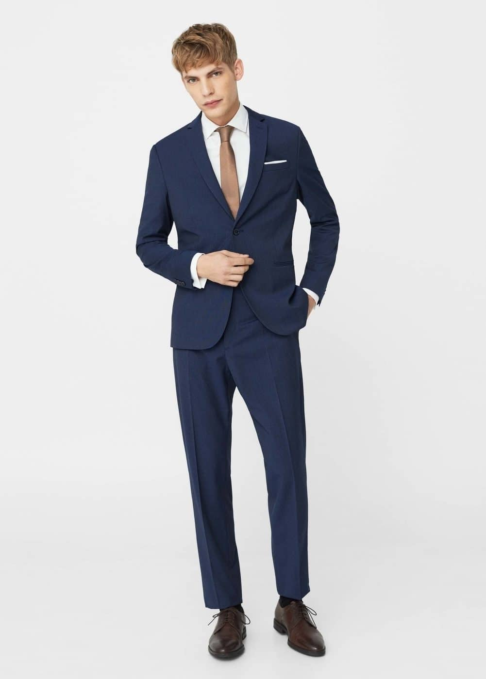 Modern slim-fit patterned suit blazer | MANGO MAN