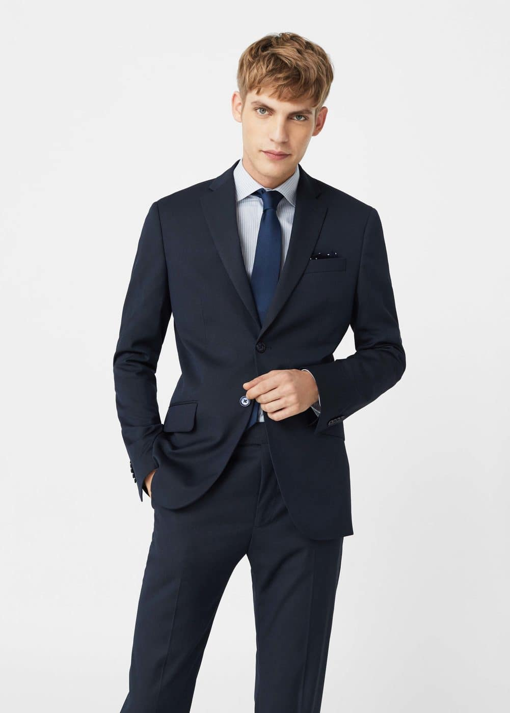 Regular-fit suit blazer | MANGO MAN