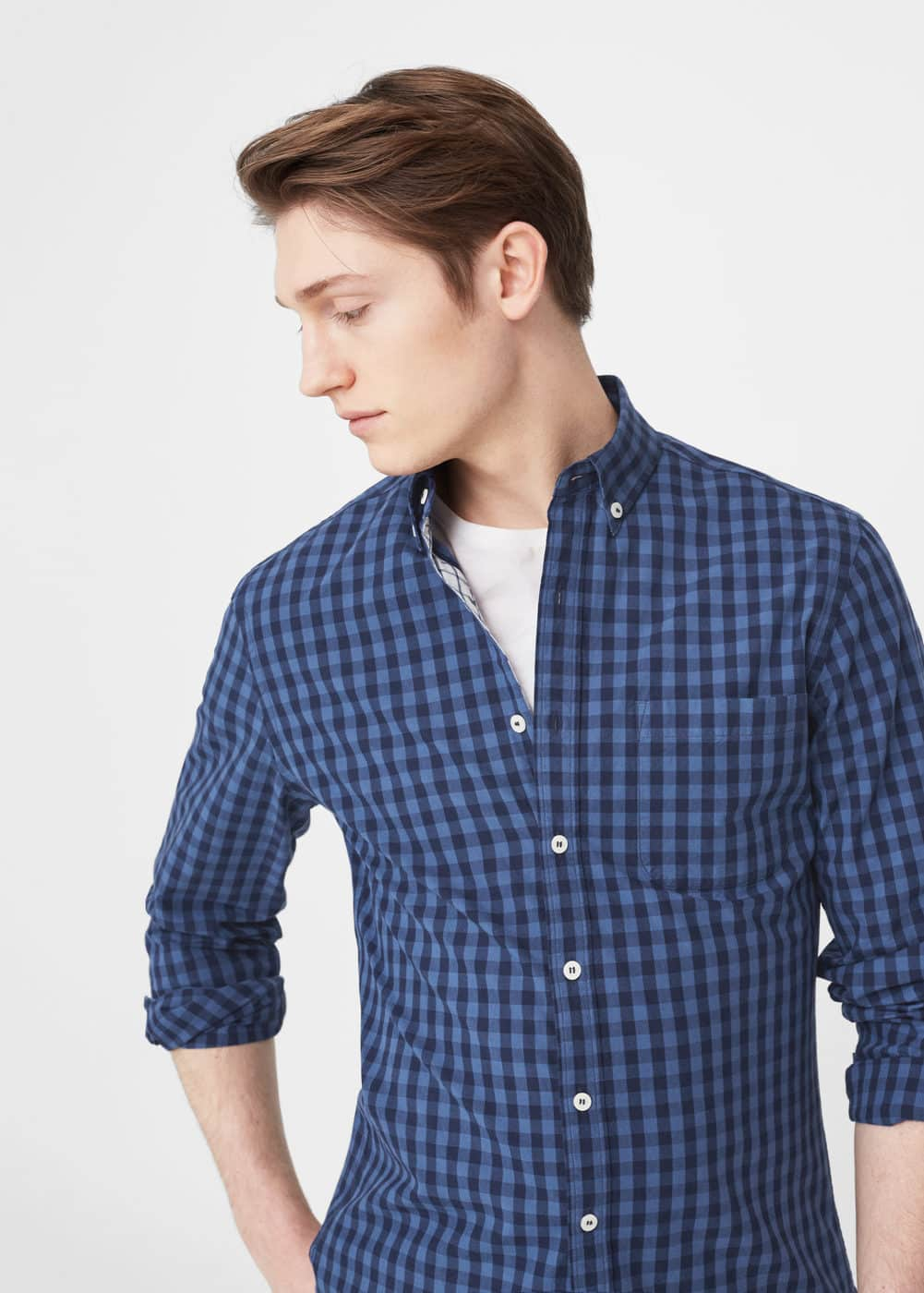 Slim-fit gingham check shirt | MNG