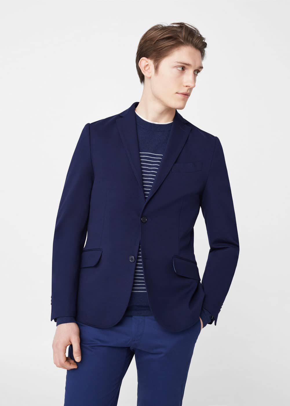 Slim-fit plush blazer | MANGO
