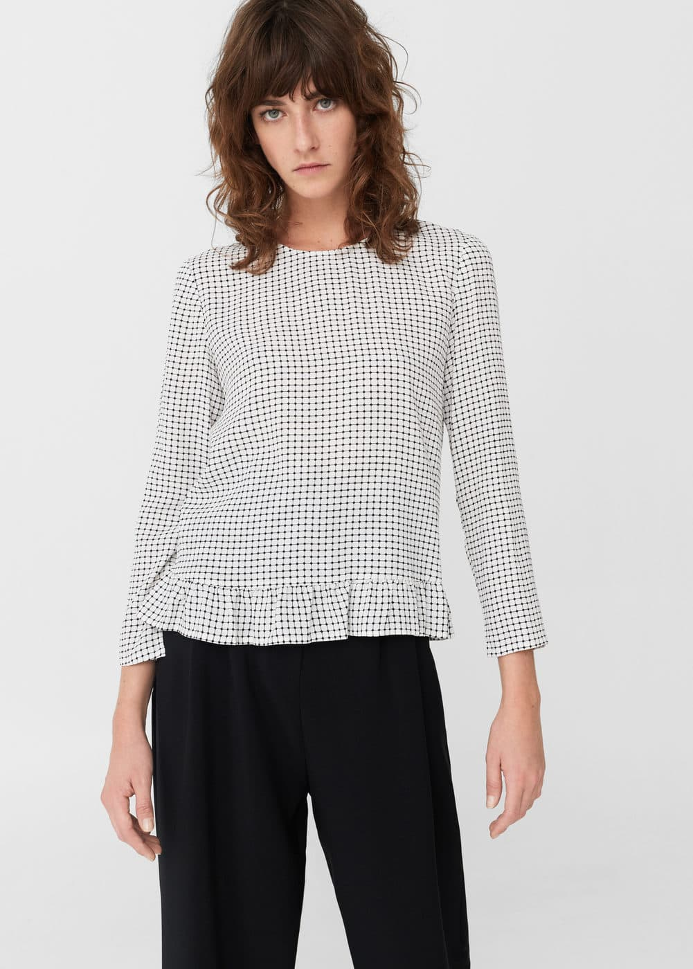 Blouse base à volants | MANGO
