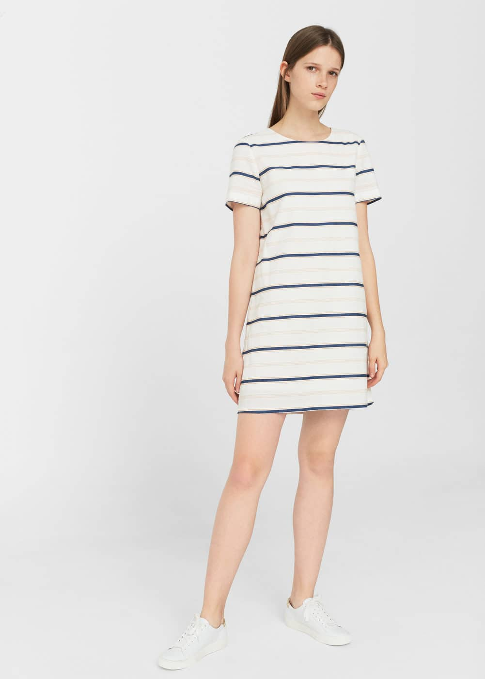 Striped cotton dress | MANGO
