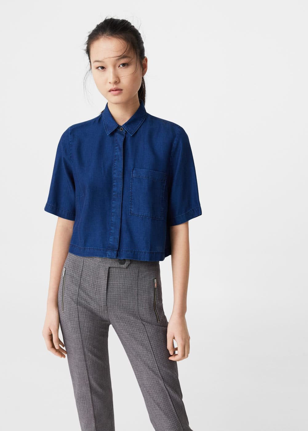 Denim tencel® shirt | MANGO