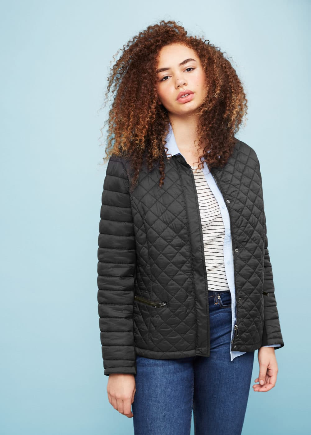 Stitched quilt jacket | VIOLETA BY MANGO