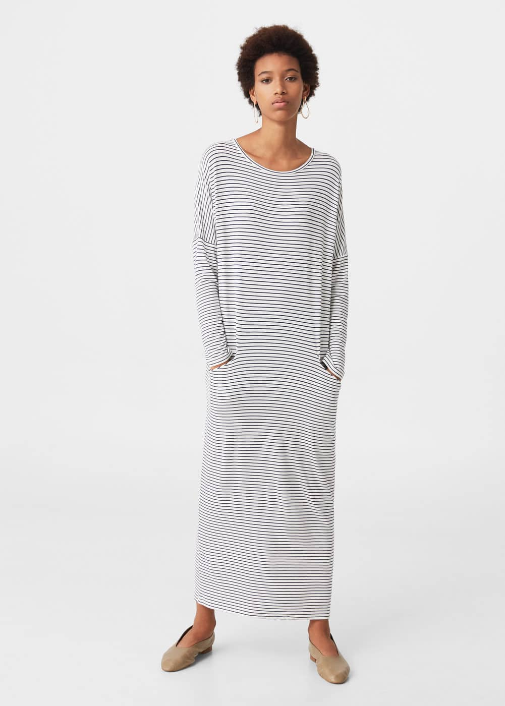 Flowy striped dress | MANGO