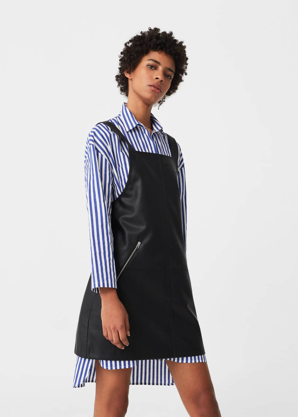 Pockets pinafore dress | MANGO