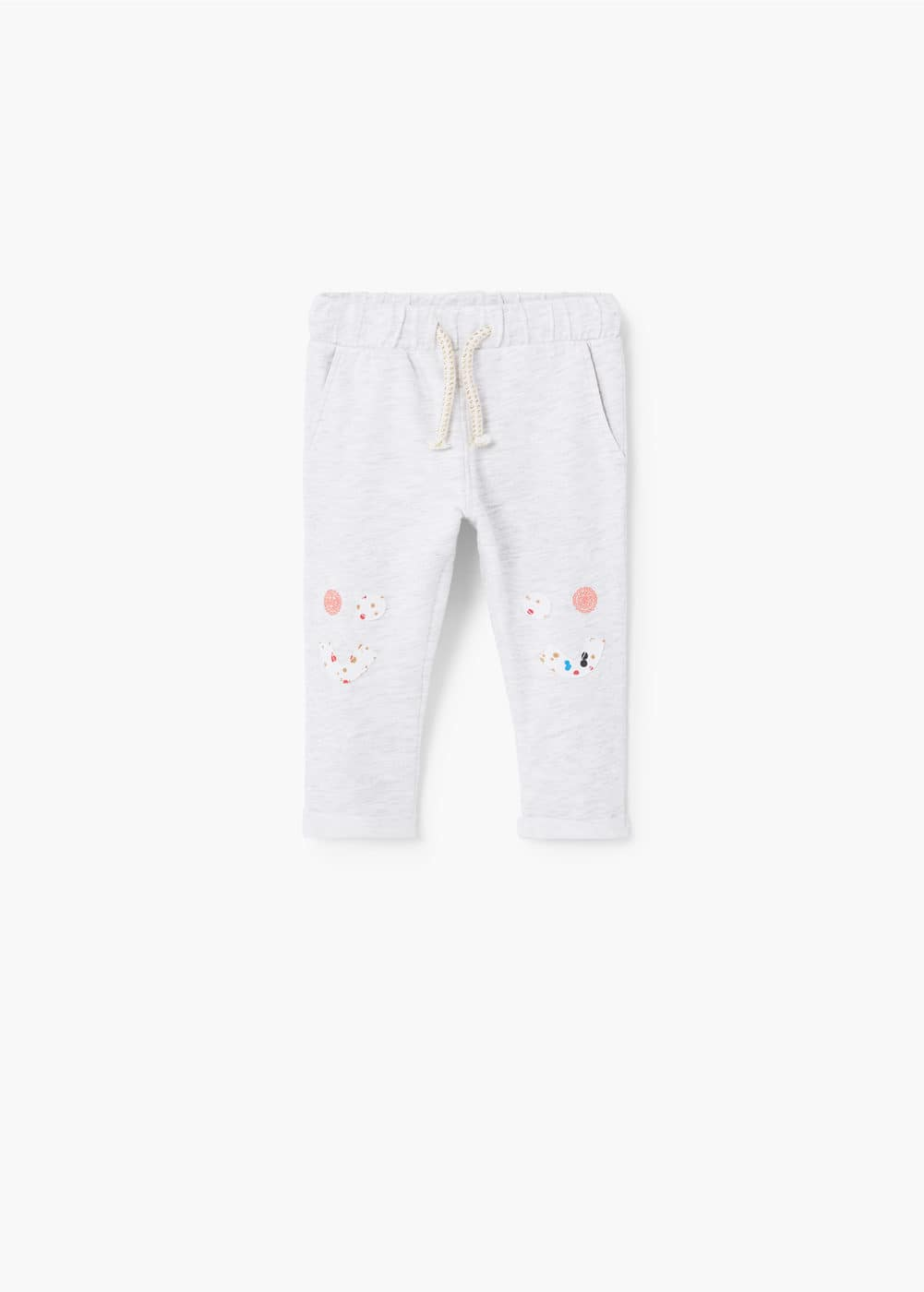 Flecked jogging trousers | MANGO KIDS