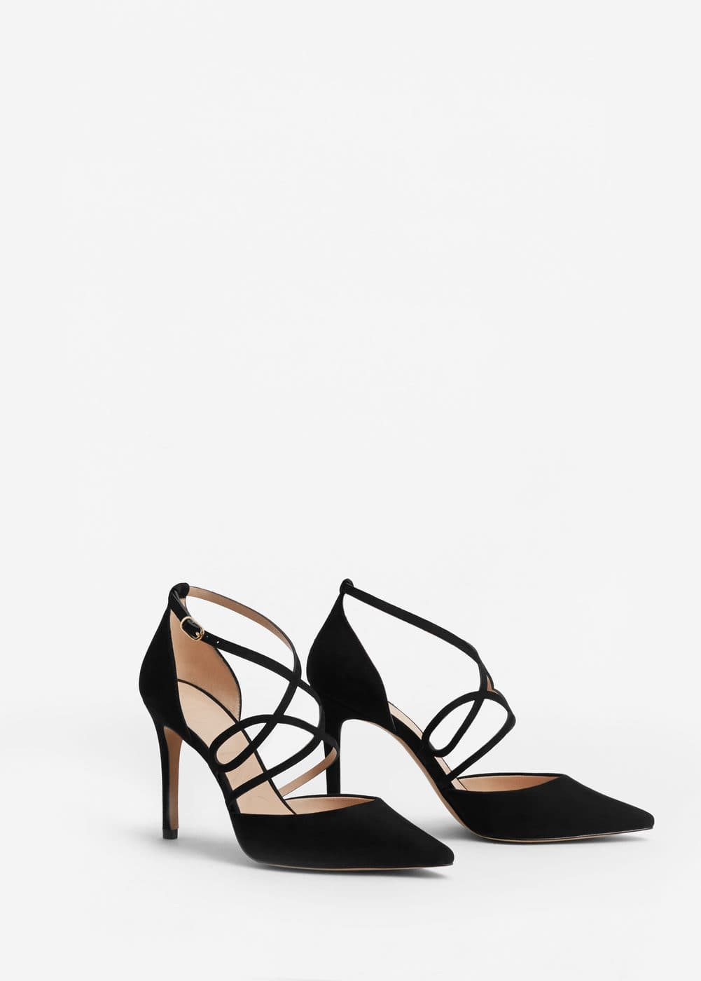 Lace-up stiletto shoes | MANGO