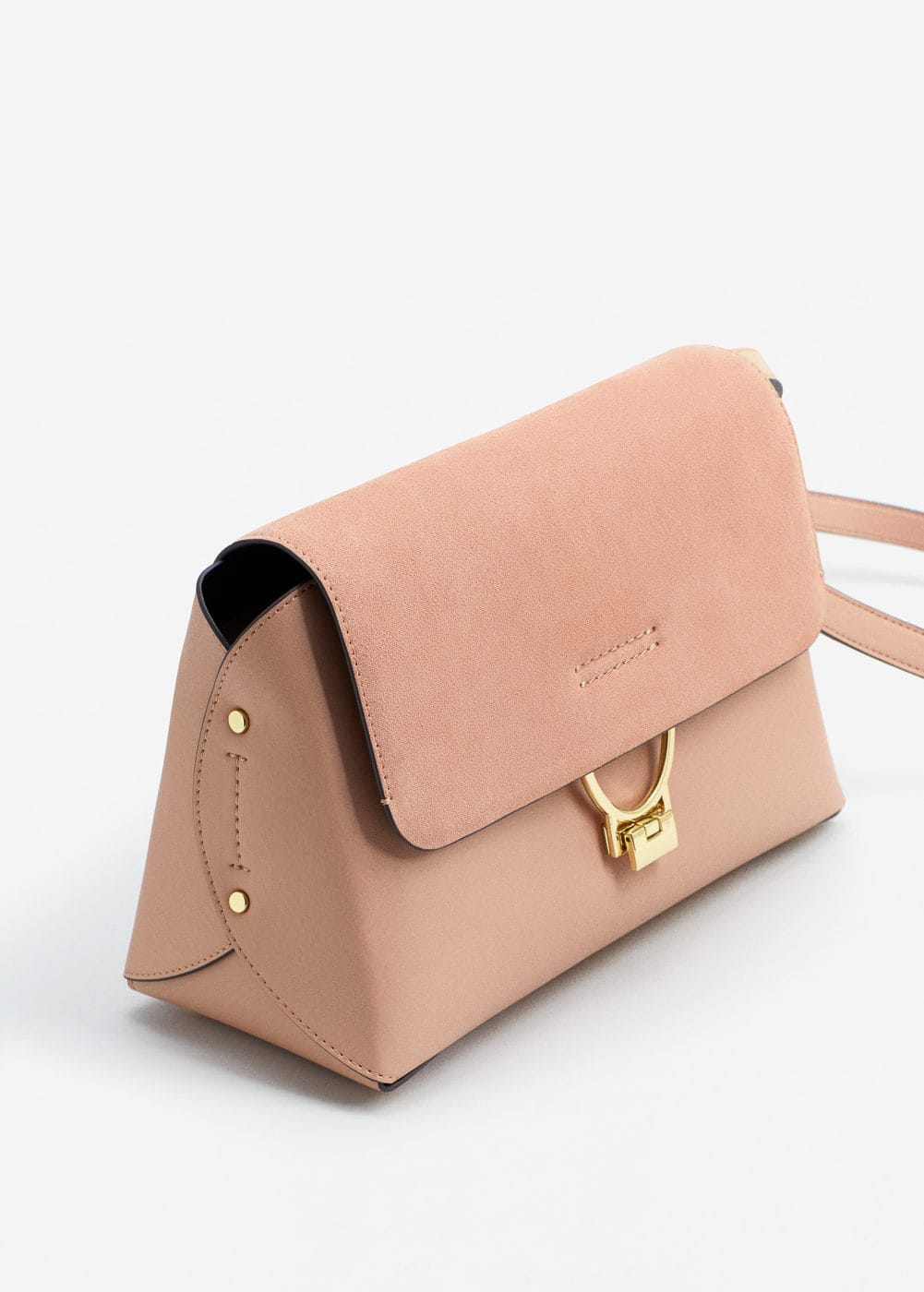 Leather flap bag | MANGO