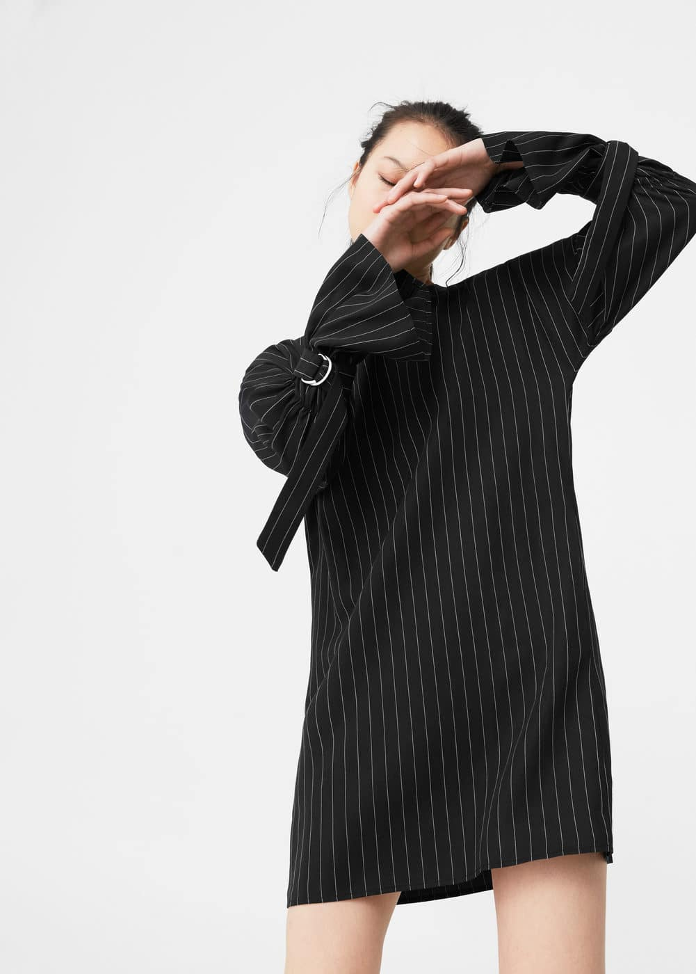 Pinstripe print dress | MANGO