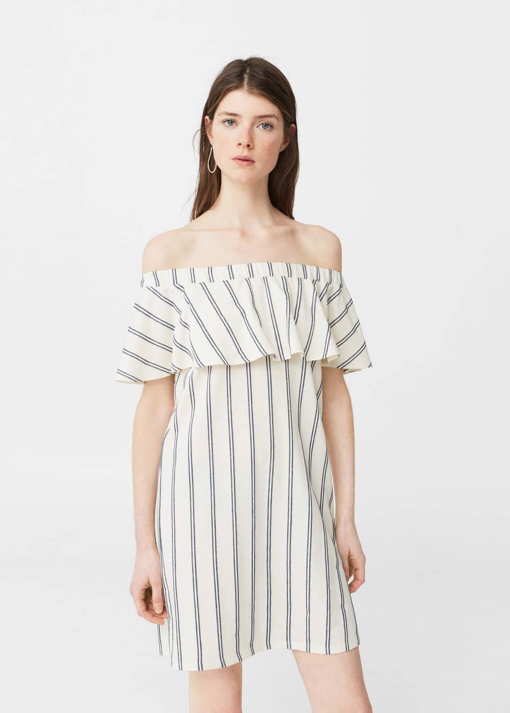 Off shoulder-kleid | MANGO