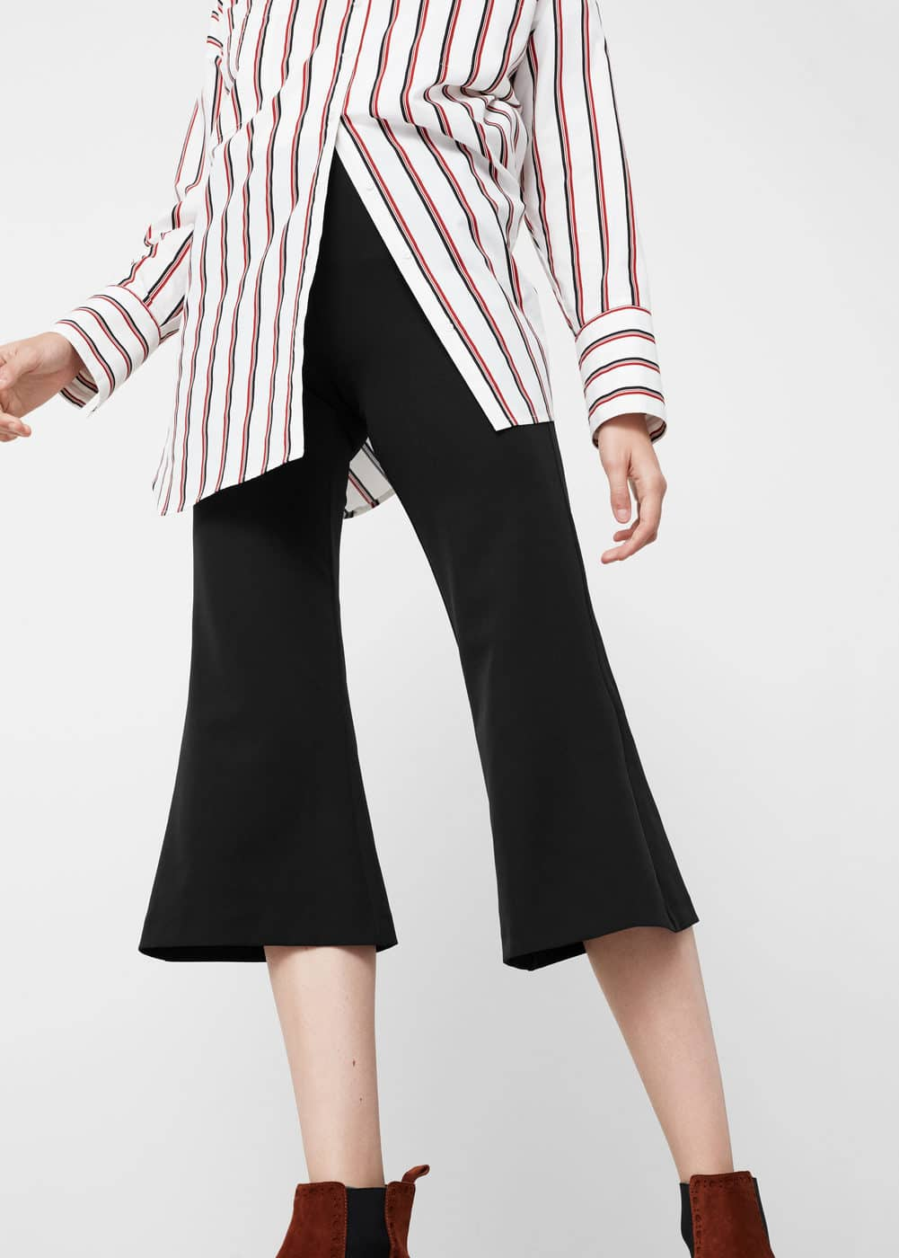 Flare crop trousers | MANGO