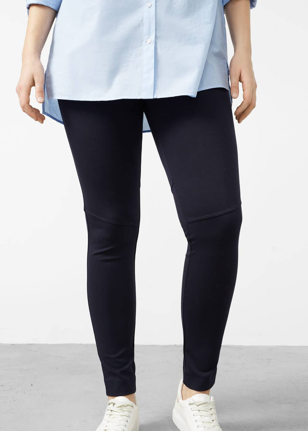 Decorative seam leggings | VIOLETA BY MANGO