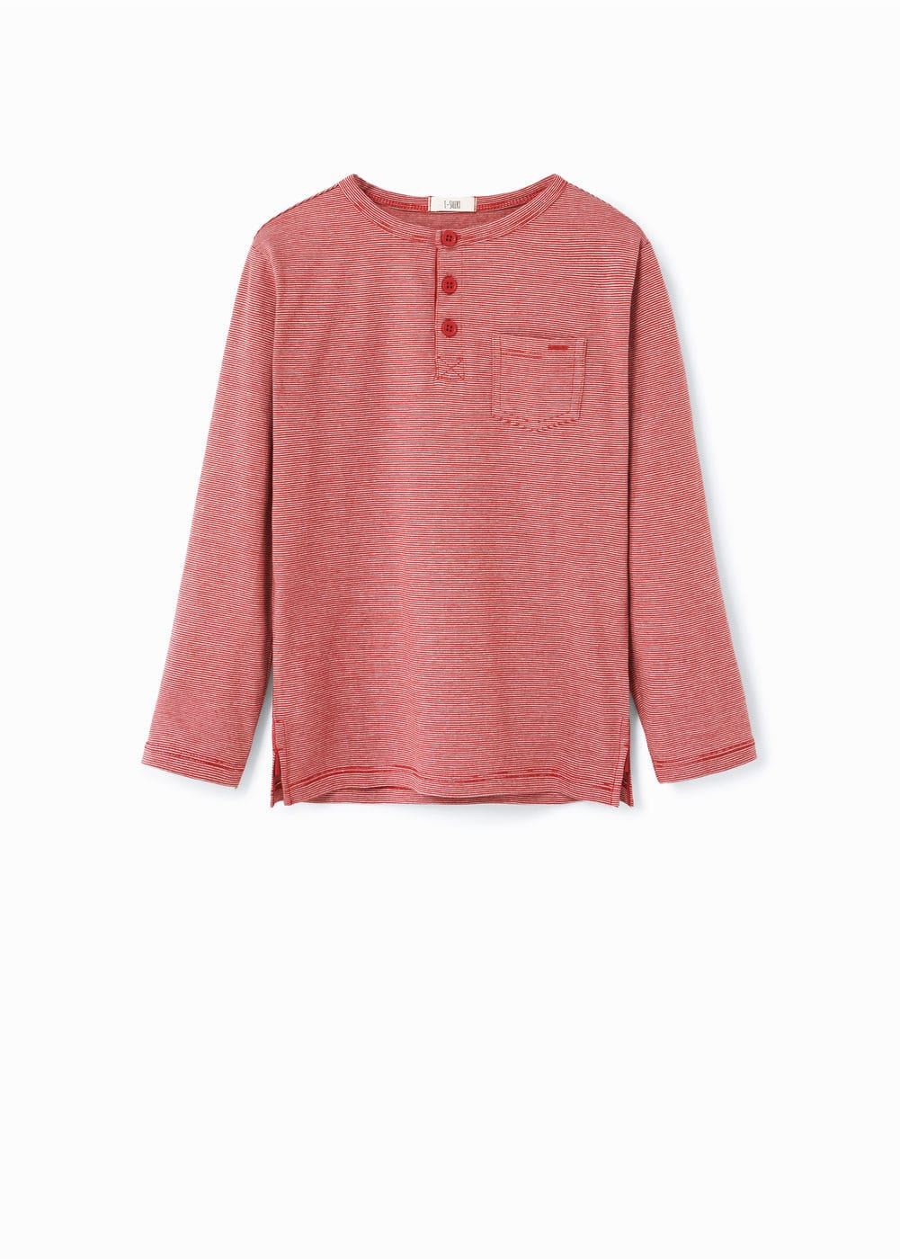 Henley cotton t-shirt | MANGO KIDS