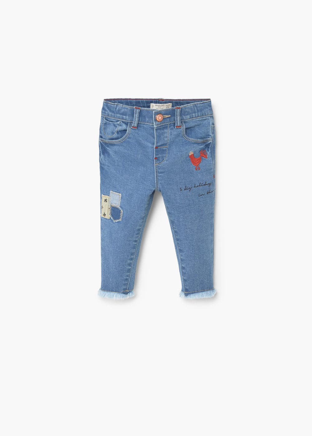 Jeans bordado parches | MANGO KIDS