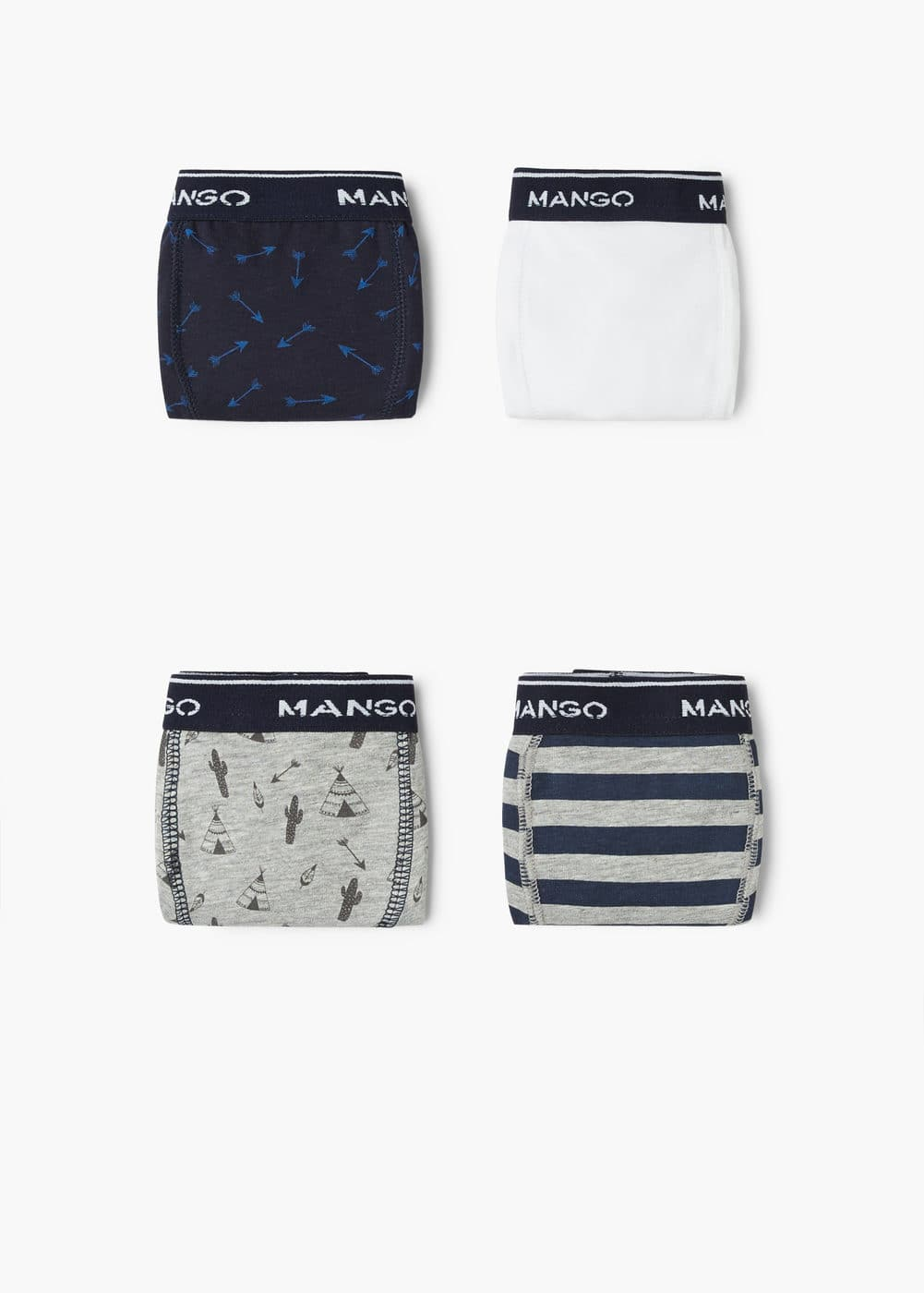 Mixed boxer 4 pack | MANGO KIDS