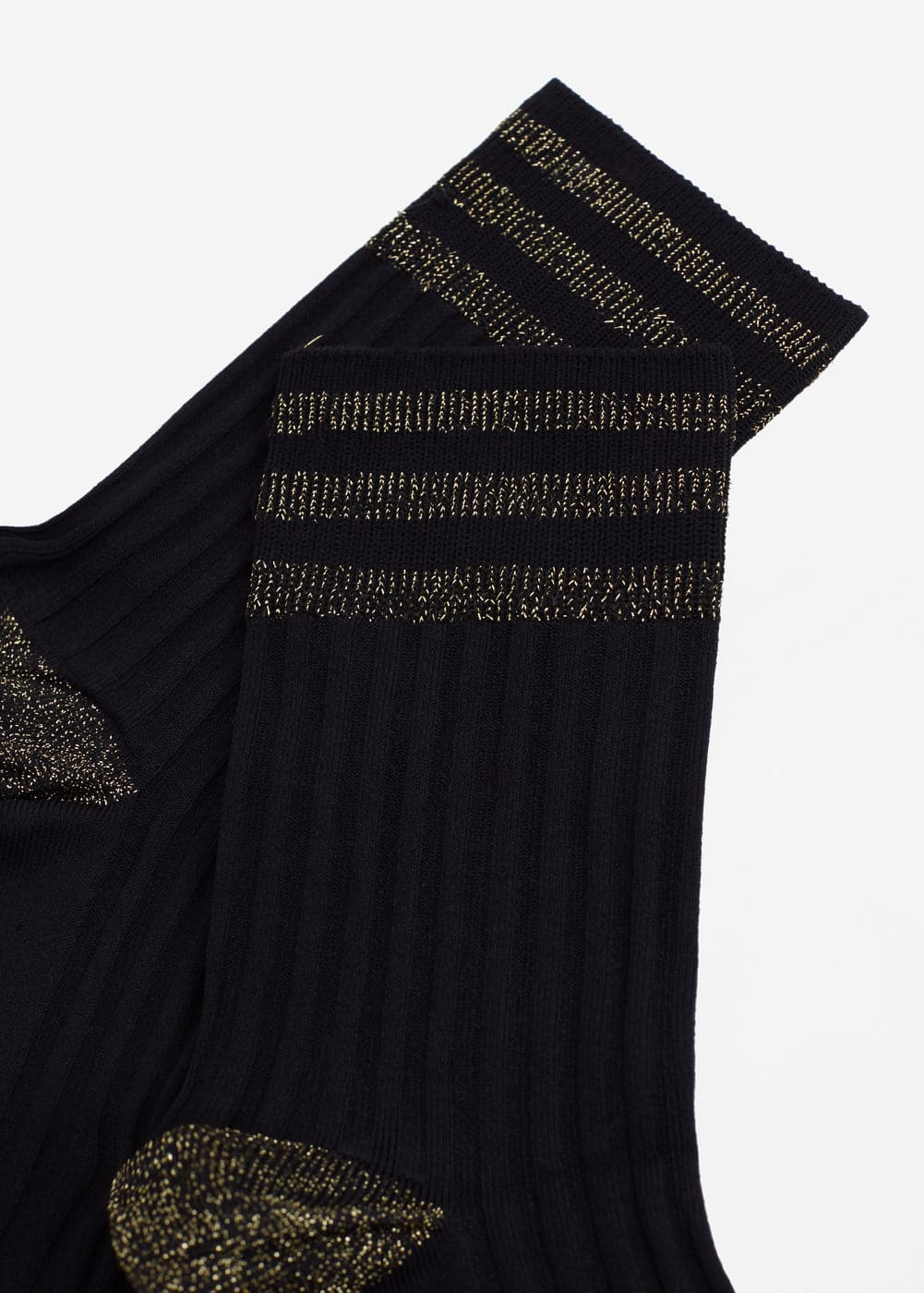 Metal thread socks | MANGO