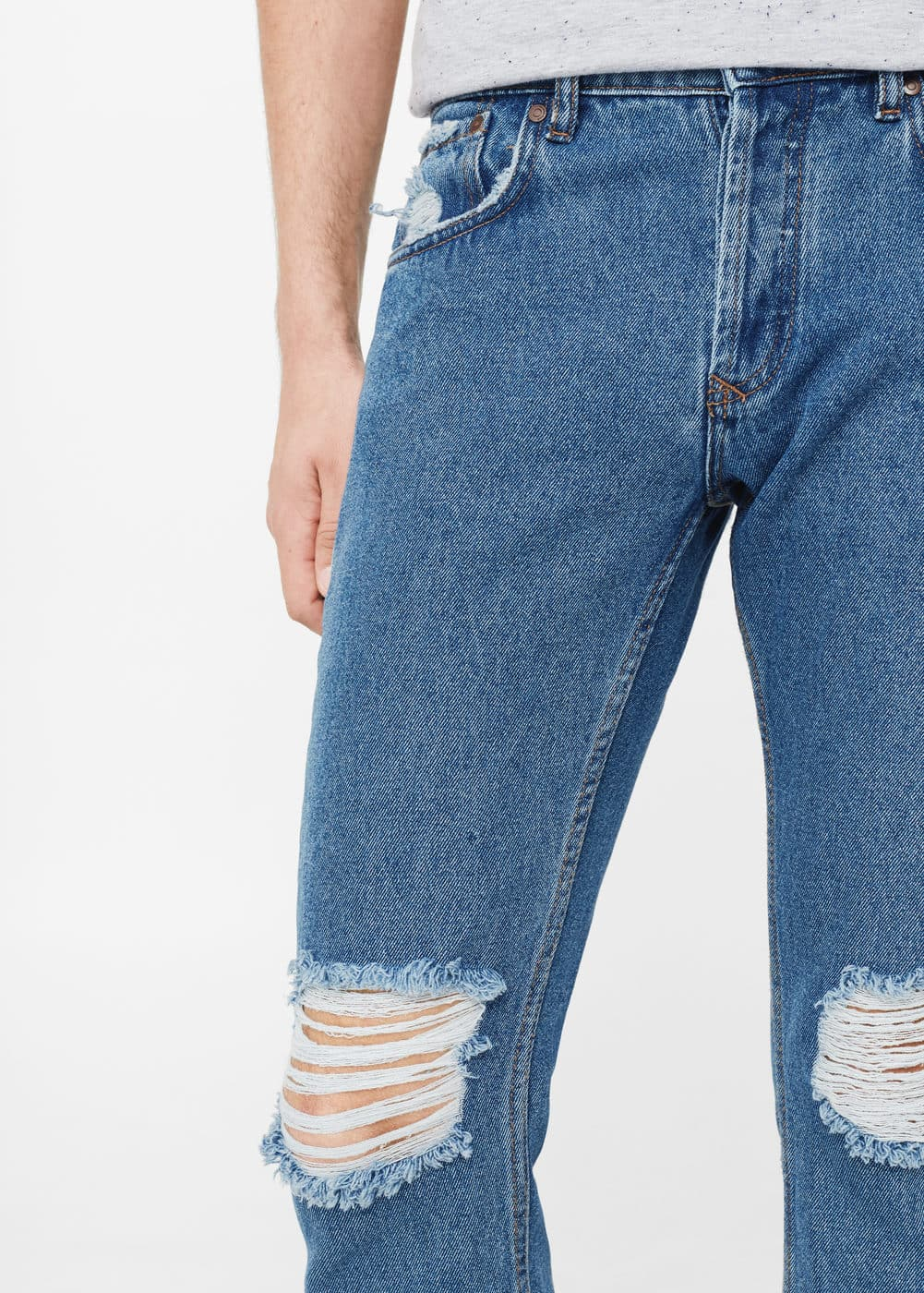 Straight fit jeans harvey in cropped-länge | MANGO MAN