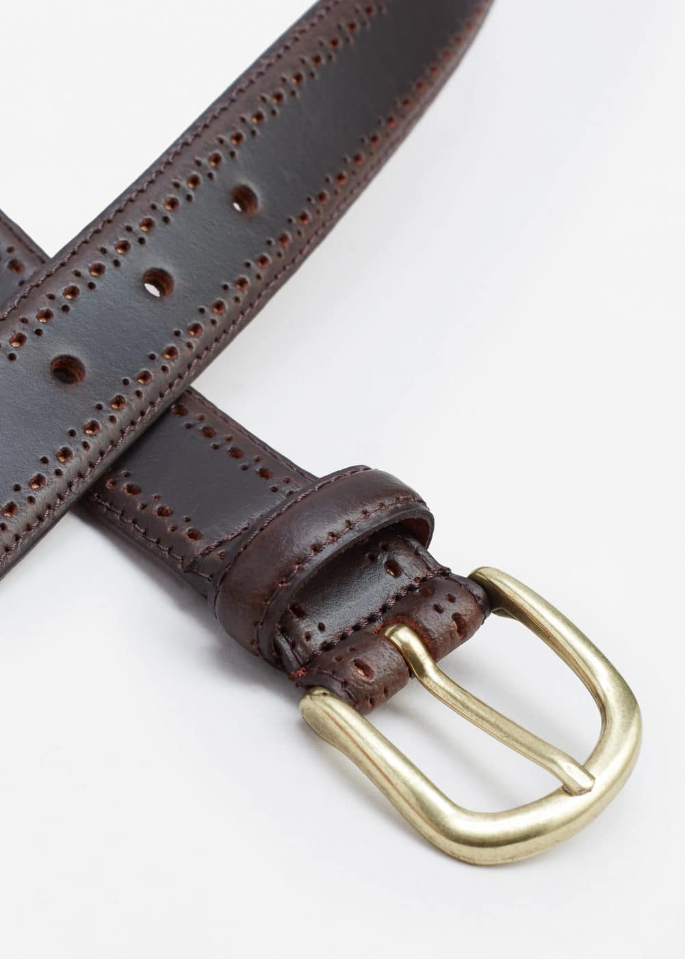Laser-cut leather belt | MANGO MAN