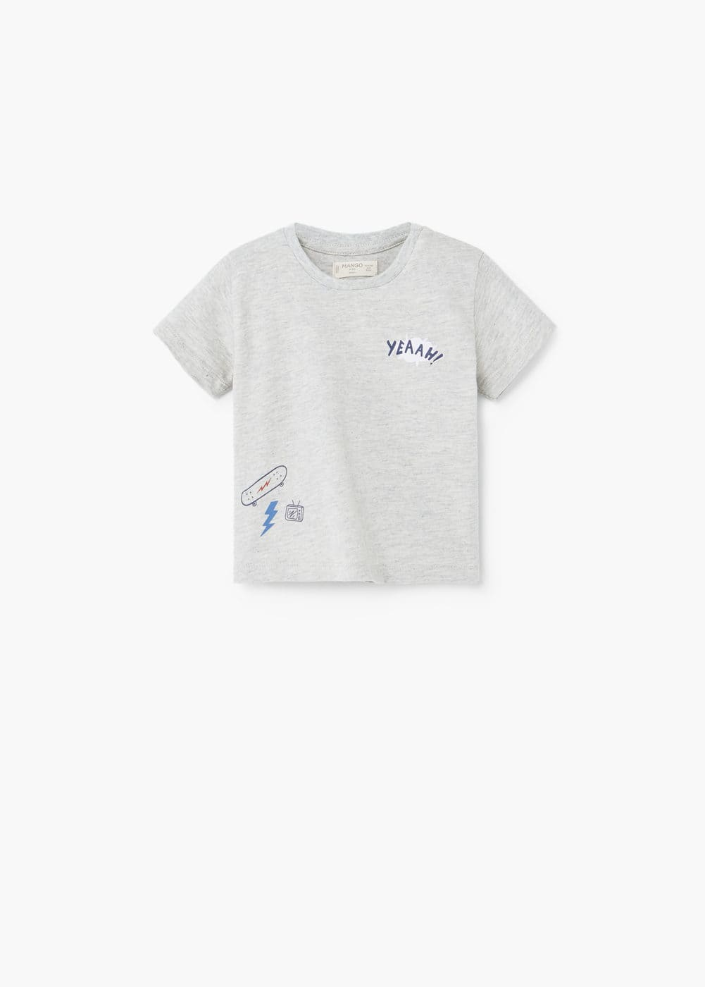 Printed cotton t-shirt | MANGO KIDS