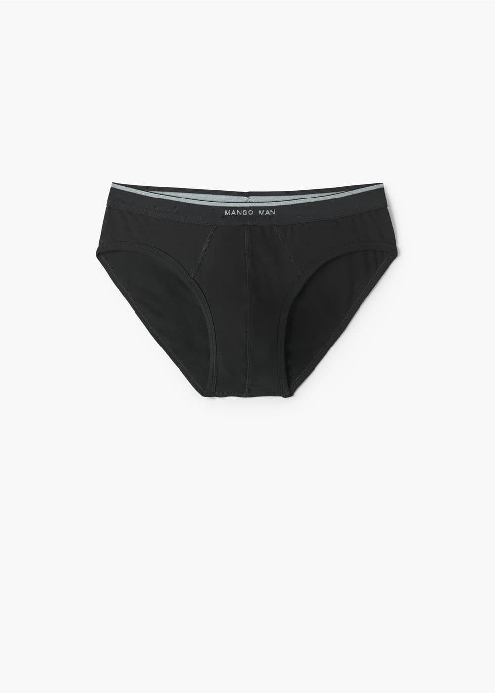 Logo cotton briefs | MANGO MAN