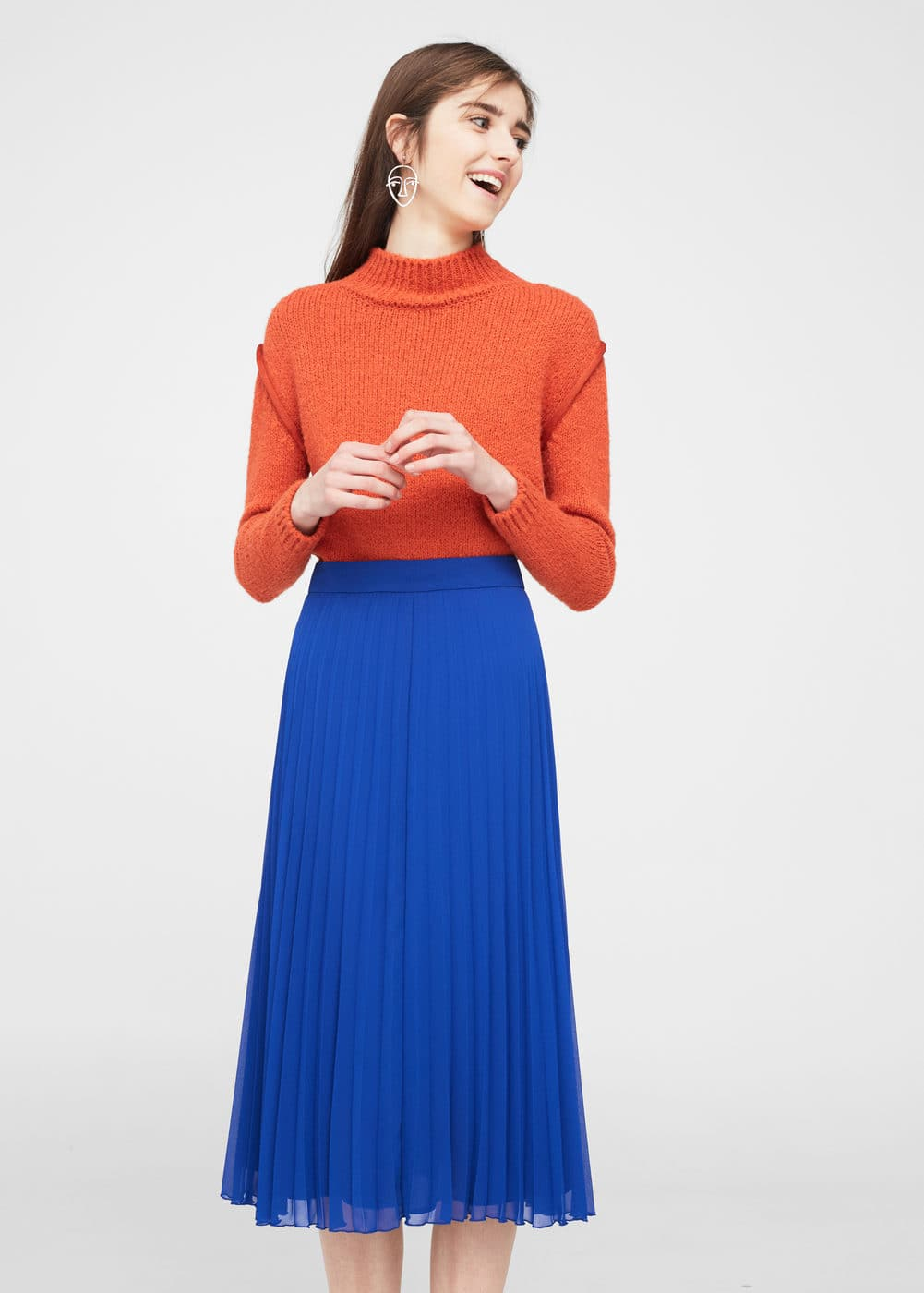 Pleated midi skirt | MANGO