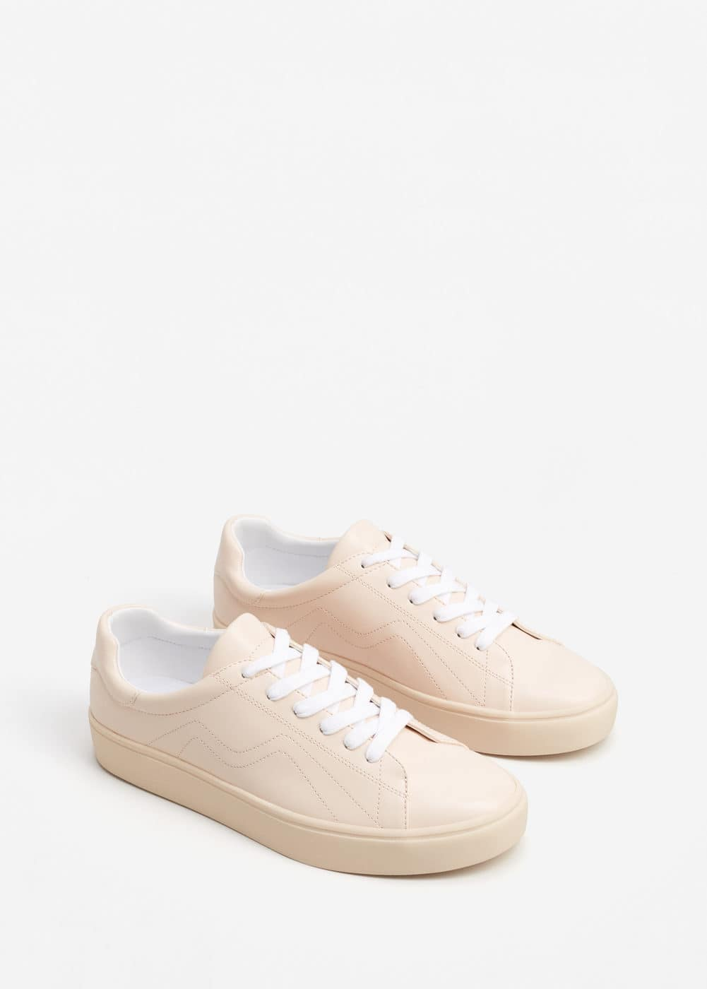 Stitched sneakers | MANGO