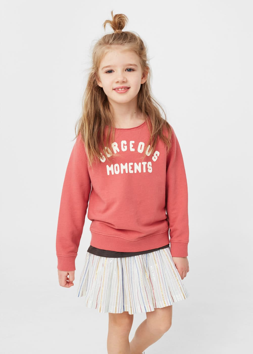 Metallic pleated skirt | MANGO KIDS