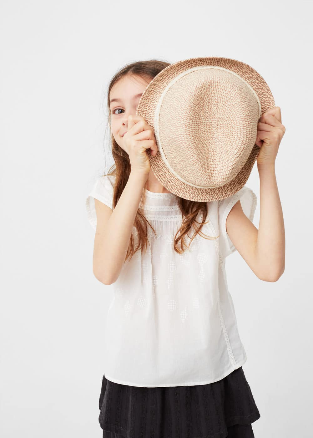 Blusa ribetes bordados | MANGO KIDS