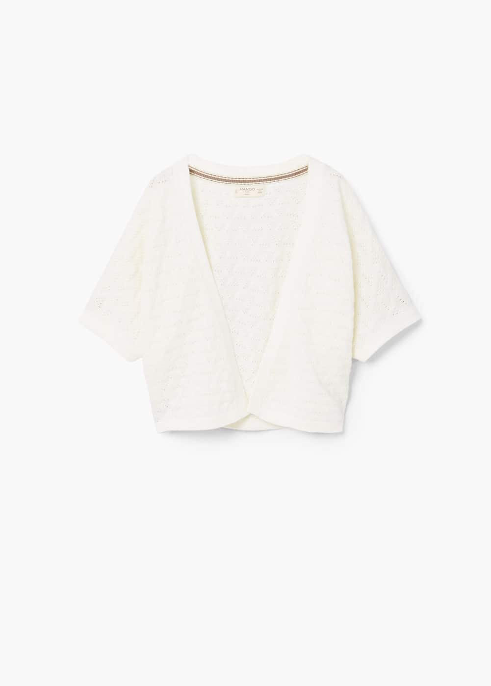 Openwork cotton cardigan | MANGO KIDS