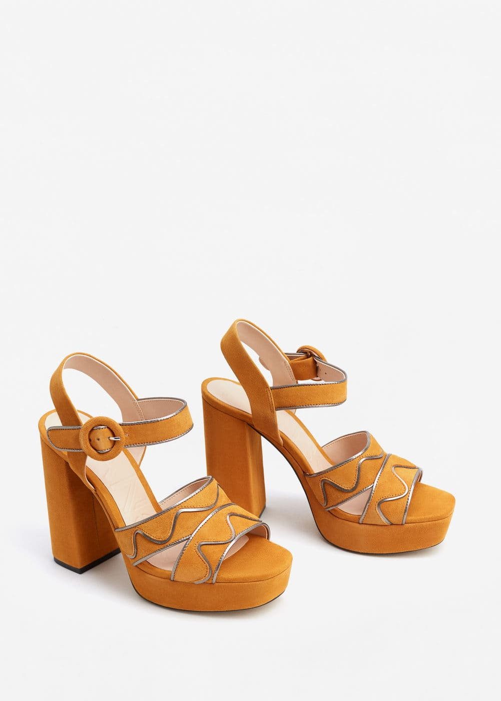 Platform leather sandals | MANGO