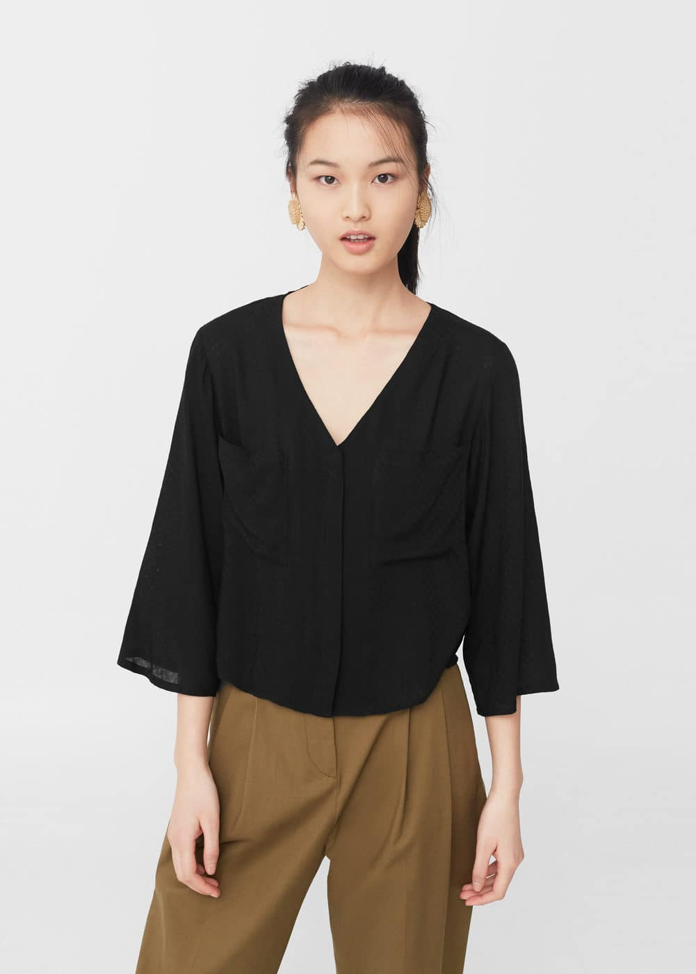 Pocket blouse | MANGO