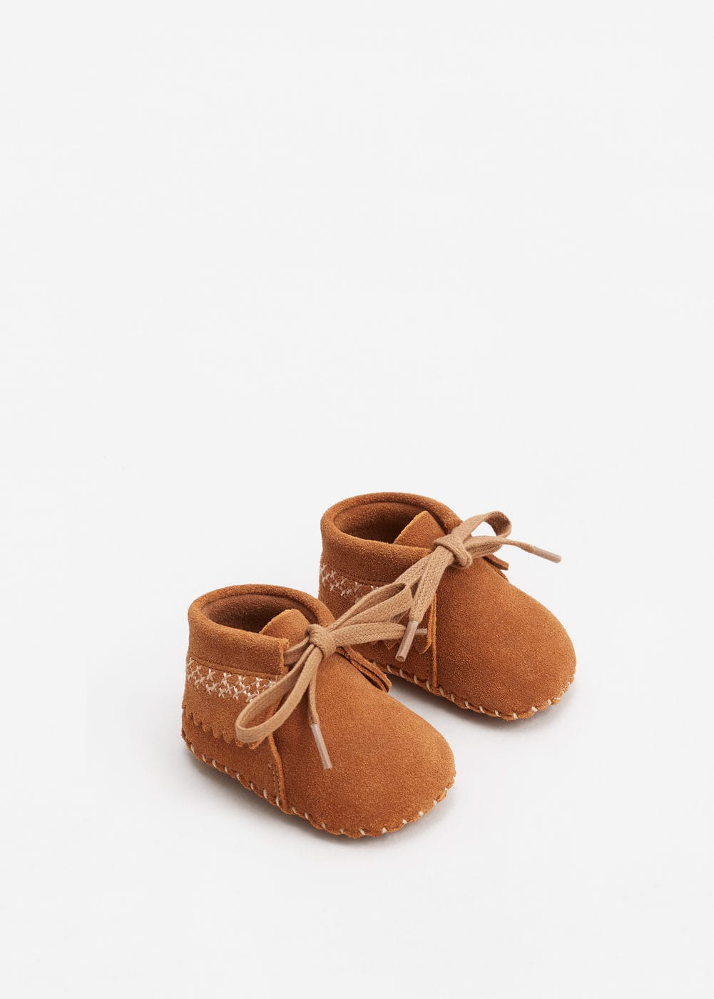Lace-up leather boots | MANGO KIDS