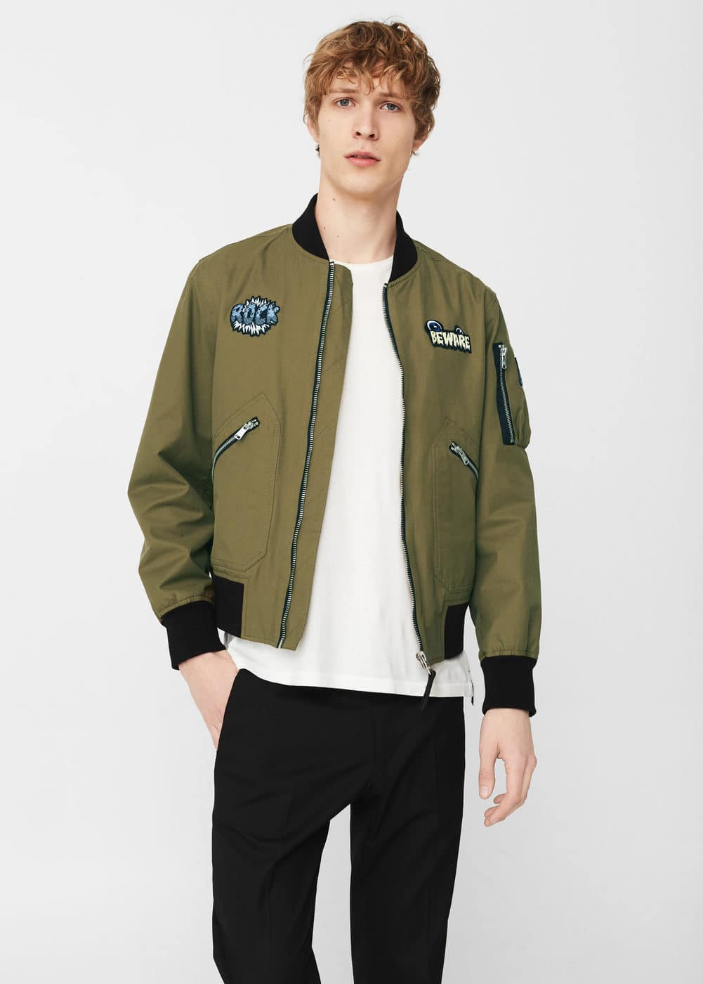 Patched bomber | MANGO