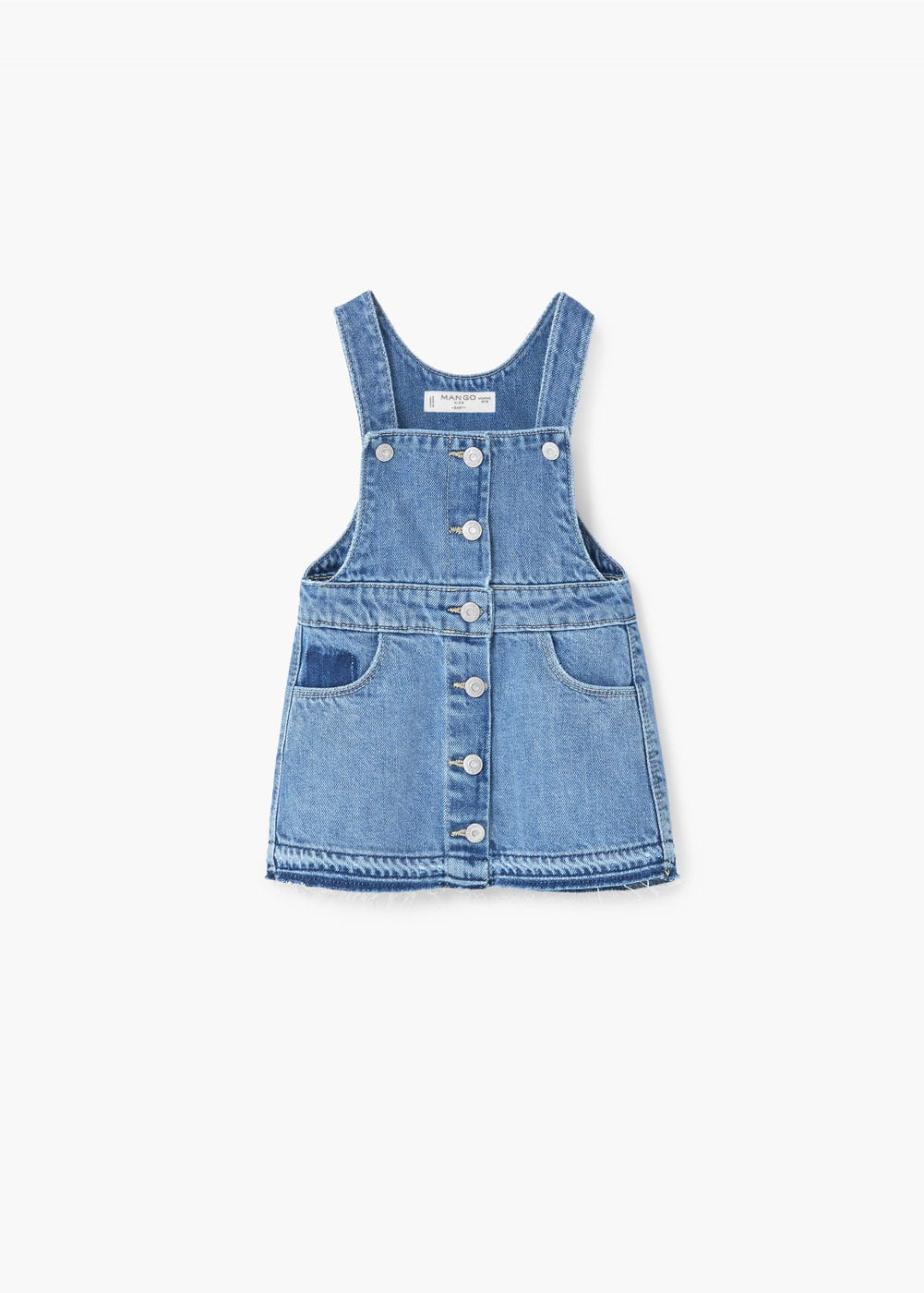 Medium denim pinafore dress | MANGO KIDS