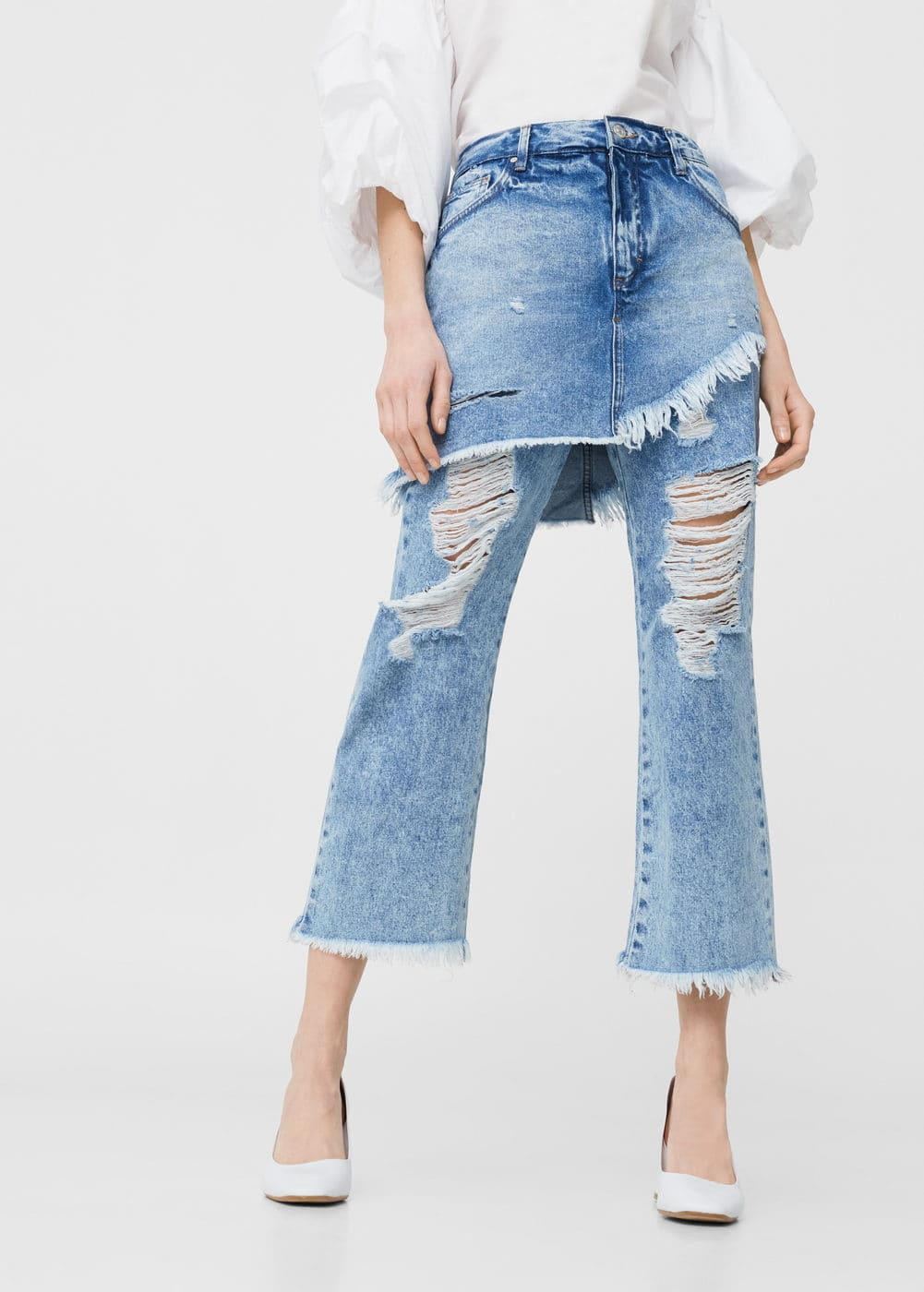 Relaxed jeans mit rock gigi | MANGO