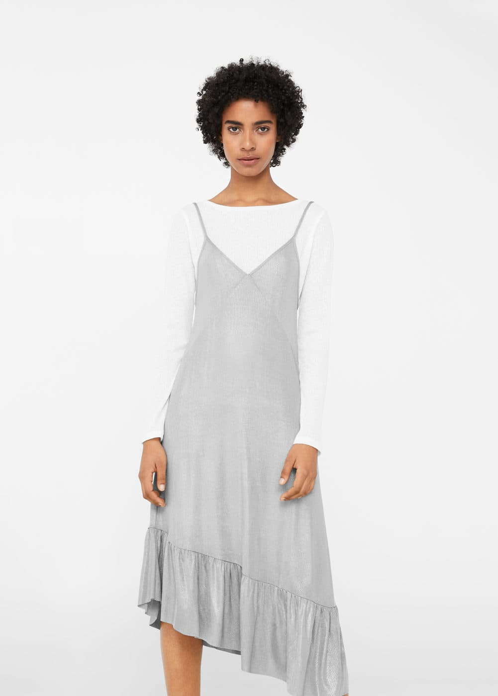 Fluted hem dress | MANGO