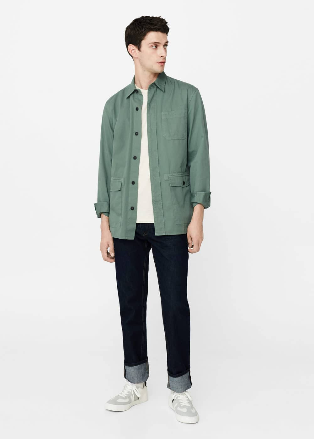 Regular-fit chest-pocket shirt | MANGO